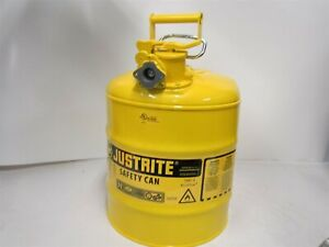 Justrite Type Ii Steel Yellow 5 Gallon Diesel Safety Can Dented No Hose