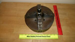 9 Skinner Independent Reversible 4 Jaw Lathe Chuck No 808 With Reversible Jaws