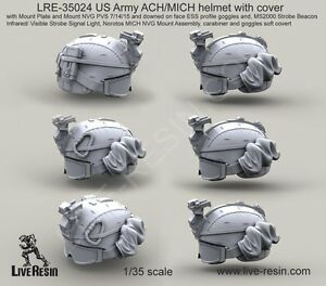 Live Resin 35024 135 US Army ACHMICH Helmet with Cover (6)
