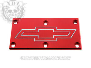 Tpi Throttle Body Plate O Chevy Camaro Firebird Bowtie Outline Red