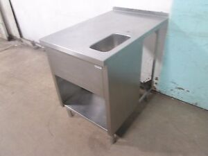 Heavy Duty Commercial 100 Stainless Steel Service Counter table W wash Sink