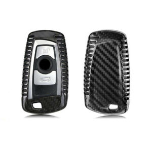 Real Carbon Fiber Car Key Case Case Cover For Bmw F30 F32 F22 F10 F80 F82 Parts