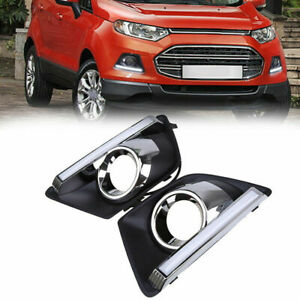 2x Car Led Daytime Running Light Drl White Fog Lamps For Ford Ecosport Mk2 13 16