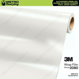3m 2080 G10 Gloss White Vinyl Vehicle Car Wrap Decal Film Sheet Roll