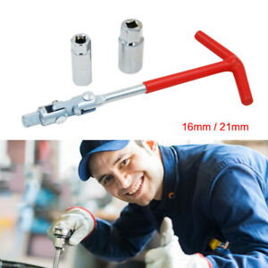 Spark Plug Removal Tool T Handle Flexible Spanner Socket Wrench Set 16mm