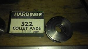 Hardinge S 22 7 8 Serrated Round Collet Pad Set