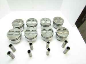 Silvolite 345np 030 350 Chevy Flat Top Pistons 5 7 Rod Small Block Demo Derby