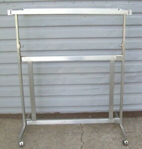 Store Fixture Supplies h Style 2 Bar Clothing Garment Rack On Ro
