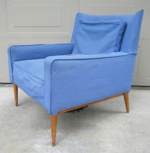 Vintage Paul Mccobb 302 Lounge Club Chair Directional Teak Mid Century Modern