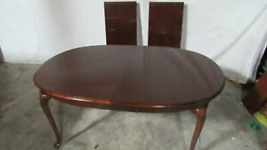 Thomasville Cherry Dining Room Table Queen Anne