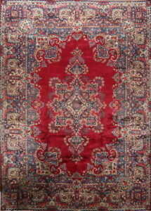 One Of A Kind Busy Pattern Floral Kirman Persian Hand Knotted 10 X14 Wool Rug