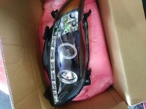 Spyder Black Halo Projector Headlights With Led Drl Toyota Corolla 2009 2012