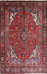 Clearance Traditional Floral Hamedan Persian Hand Knotted 7 X10 Wool Area Rug
