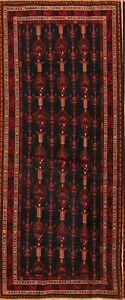 One Of Kind Antique Tribal Balouch Persian Hand Knotted Oriental Runner Rug 4x10
