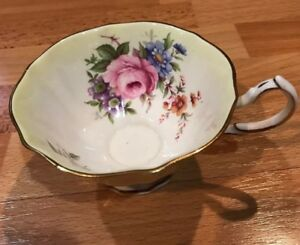 Vtg Queen Anne Bone China England Tea Cup Morning Glory Daisy See Description