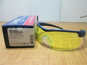 8 Uvex By Honeywell Sx0102x Versapro Safety Glasses Amber Antifog Black blue