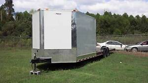 New 2020 8 5 X 30 8 5x30 Hybrid Enclosed Utility Cargo Car Hauler Trailer