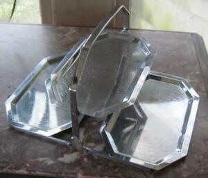 Chase Chrome Art Deco Three Tiered Folding Tray