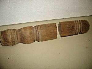 2 Walnut Salvage Pieces Bed Parts Bed Legs 1 12 Long X 2 1 4 Thick 1 356