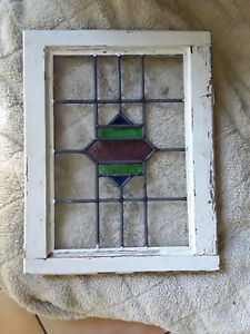 Original Vintage Stained Glass Window