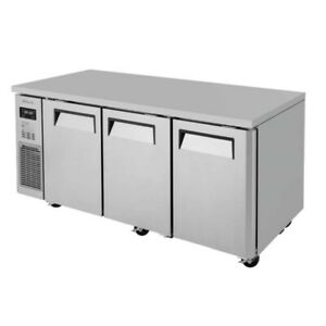 Turbo Air Jurf 72 n J Series 72 Three section Undercounter Refrigerator freezer