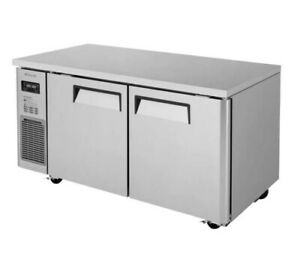 Turbo Air Jurf 60 n J Series 59 Two section Undercounter Refrigerator freezer