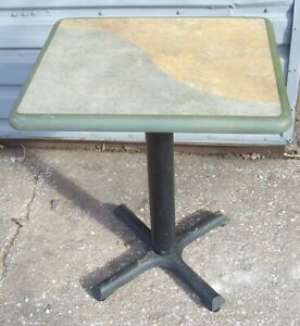 Restaurant Equipment 29 Standard Height Table Top With Base 24 X 20 Tan gray
