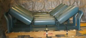 4 Metso Minerals 4196 35deg Offset Idlers Regreasable 6 Dia Rolls