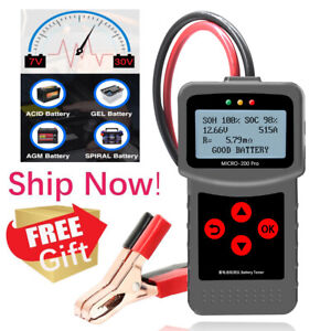 12v Digital Car Battery Tester Auto Battery Analyzer For Agm Gel Micro 200