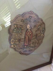 Old Chinese Rank Badge Embroidery Gold Thread 19c Century Textile Robe Silk Rare