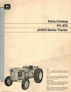 John Deere 300 Industrial Vintage Tractor Parts Manual Pc 972 1970