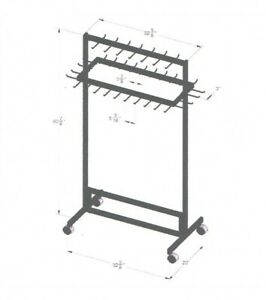Store Fixture Supplies New Belt Fixture Rack On Casters Black Finish