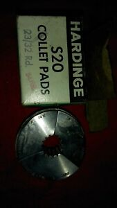 Hardinge S 20 23 32 Round Collet Pad Set Serrated