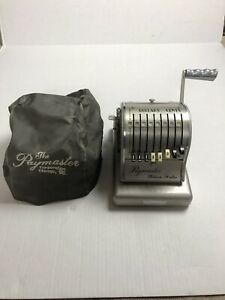 Vintage Paymaster Series 800 Ribbon Writer Check Writing Machine Key And Cover
