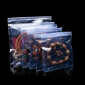 Clear Anti oxidation Pvc Plastic Zip Lock Bags Storing Pouch Jewelry Packaging