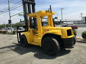 Hyster H200 Forklifts 2 Avail 20 000 Lb Cap Pneumatic Tire Sideshift Diesel