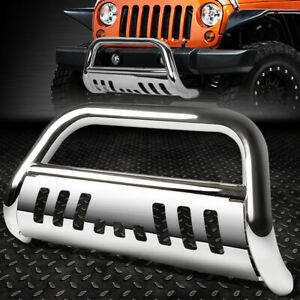 For 18 19 Jeep Wrangler Stainless Steel 3 Bull Bar Bumper Grill Push Brush Guard