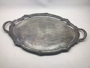 Antique Gorham Large 24 Oval Silverplate Serving Butler Tray Platter
