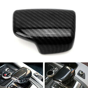 Carbon Fiber Pattern Shift Knob Cover Shell For 17 up Audi A4 A5 S5 Rs5 Q7 Q5