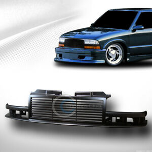 Fit 98 04 Chevy S10 Blazer truck Glossy Blk Horizontal Front Bumper Grill Grille