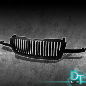 Blk 2003 2006 Chevy Silverado Avalanche Vertical Sport Front Grille Grill Truck