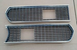 Vtg Original Oem 1967 Plymouth Barracuda Grill Grille Inserts Super Clean
