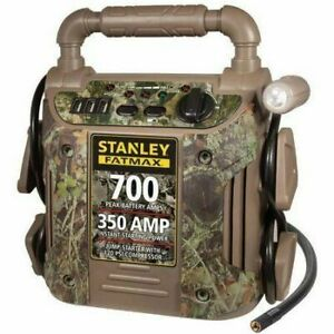 Jump Starter 700 Peak Amp 120 Psi Air Compressor Stanley Battery Charger Camo