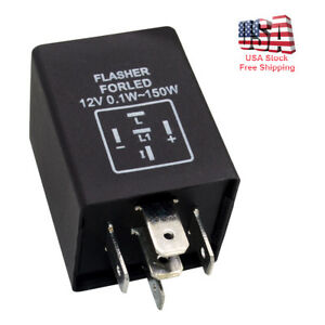 5 Pin Ep27 Fl27 Led Flasher Relay Plug For Led Turn Signal Lamps Hyper Flash