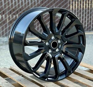 22 Black Wheels Fit Range Land Rover Hse Sport Charger 22x10 5x120 Rims Set 4
