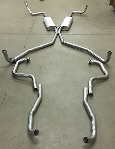 1966 Buick Riviera Dual Exhaust System Aluminized Without Resonators