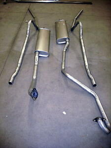 1949 1951 Mercury 8 Cylinder Dual Exhaust System Aluminized dual Conversion