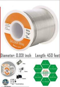 60 40 Tin Lead Rosin Core Solder Wire Electrical Sn60 Pb40 Flux 0 031 0 8mm 1lb