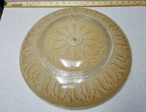 Vintage Antique 15 Art Deco Beige Ceiling Light Shade Heavy Thick Glass