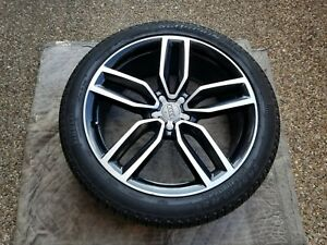 Audi Sq5 Oem Factory Genuine Speedline 21 Black Machined Wheel Tire